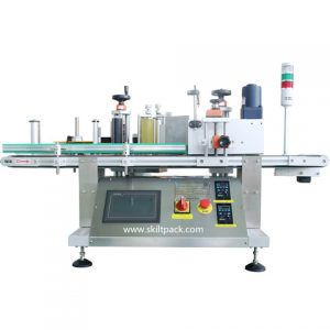 Flat Bottles Cap Top Surface Labeling Machine