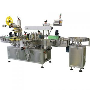Double Sides Square Wine Bottle Label Pasting Machine