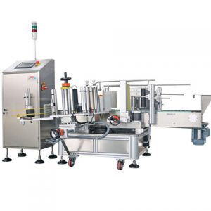 Square Cans Vertical Fixtures Labeling Machine
