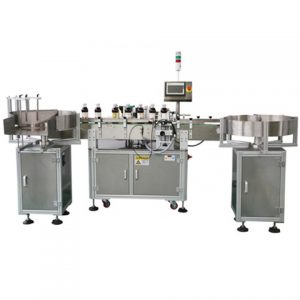 Automatic Sticker Bottle Labeling Machine Flat Two Sides