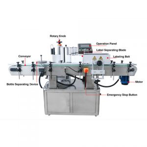 Automatic Sauce Jar Bottle Stick Labeling Machine