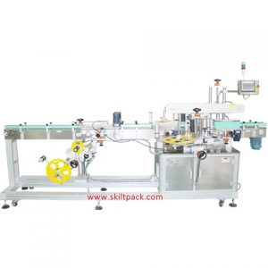 Plastic Yoghurt Cup Top Side Labelling Machine