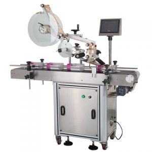 Full Meat Box Tray Top Sticker Labeling Machine