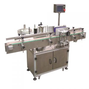 Adhesive Sticker Labeller Applicator With Double Labeling Heads