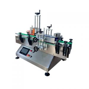 Automatic Pharma Syringe Label Applicator With Customized Conveyor