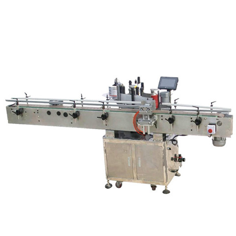 Round glass plastic bottles wet glue labeling machine ...