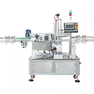 Wraparound Sticker Automatic Labeling Machine For Round Box