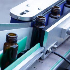Automatisk lodret rund flaske klistermærke maskindetaljer